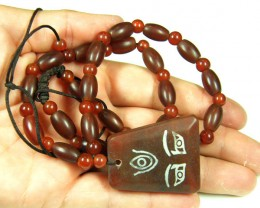 THE EYE DESIGN AGATE NECKLACE  TR 626