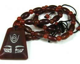 THE EYE DESIGN AGATE NECKLACE  TR 628