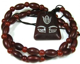 THE EYE DESIGN AGATE NECKLACE  TR 629