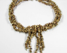 NECKLACE ALL NATURAL AGATE GTJA461