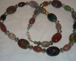 REDUCED!     INDIAN AGATE ONYX NECKLACE