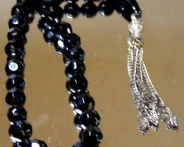 JET BLACK AGATE PRAYAER BEADS