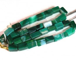 AGATE NECKLACE  BEAD STRAND   11 154