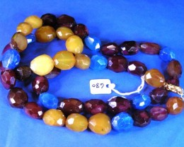 MASSIVE AGATE NECKLACE  BEAD STRAND   11 680