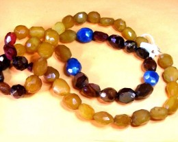 MASSIVE AGATE NECKLACE  BEAD STRAND   11 681
