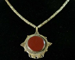 OLD TRIBAL  AGATE NECKLACE  STRAND   11 630