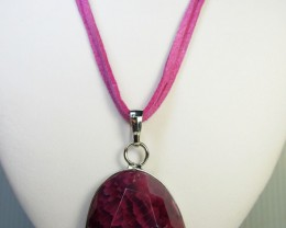 PINK CRYSTAL DRUSY AGATE  PENDANT   QT390