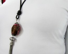 COLORFUL CHUNKY AGATE  NECKLACE   QT415