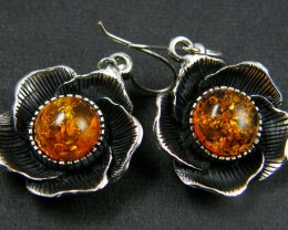 MODERN AMBER  SILVER EARRING 48.30 CTS  MYT 764