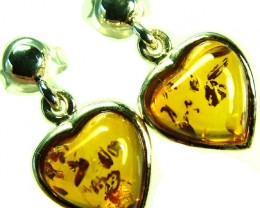 BALTIC AMBER EARRINGS SILVER 11.15 CTS [SJ512]