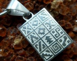 Inca Silver Pendant Calendar  MGMG 76