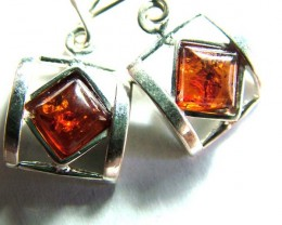 18.65  CTS AMBER  SILVER EARRING   SG-2251