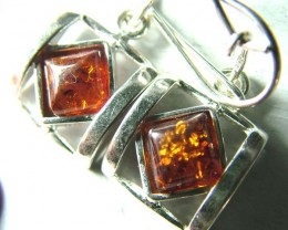 AMBER  SILVER EARRING   18.10 CTS  SG-2098