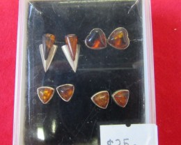 Amber Silver  Earring Parcel Deal 4  AGR692
