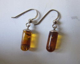 7.7cts polished amber earringsAGR671