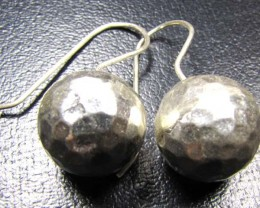 LARGE THAI HILL  TRIBE SILVER EARRINGS  44 CARATS GRR 57