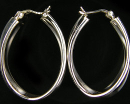 MODERN 36X25 MM  LOOP STERLING SILVER  EARRING    MYT 459
