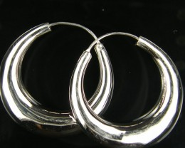 MODERN 20 MM  LOOP STERLING SILVER  EARRING    MYT 490