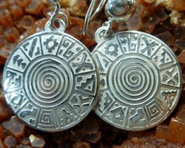 Inca Silver Sheppard Hook Earrings  MGMG 82
