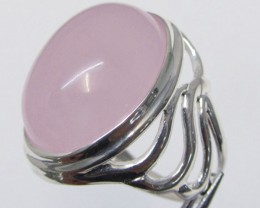 CAB  ROSE QUARTZ  RING SIZE  9   MJA337