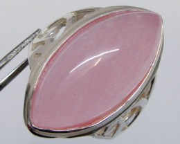CAB  ROSE QUARTZ  RING SIZE   7   MJA 341