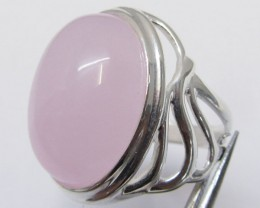 CAB  ROSE QUARTZ  RING SIZE   9.5   MJA 342