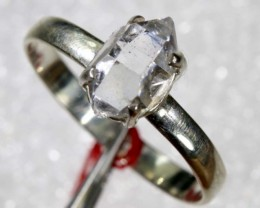 QUARTZ RING LIKE HERKIMER DIAMONDS 7 CTS  TBJ-781
