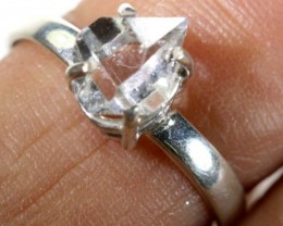 QUARTZ RING LIKE HERKIMER DIAMONDS 7 CTS  TBJ-791
