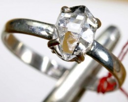 QUARTZ RING LIKE HERKIMER DIAMONDS 8 CTS  TBJ-797