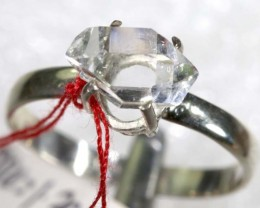 QUARTZ RING LIKE HERKIMER DIAMONDS 7 CTS  TBJ-798