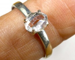 QUARTZ RING LIKE HERKIMER DIAMONDS 7 CTS  TBJ-799