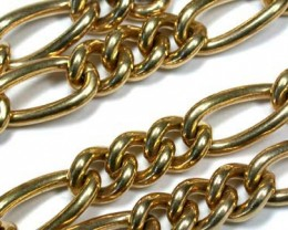 104 grams  HEAVY 9 K GOLD CHAIN, 55 CM LONG 104 GRAMS L324