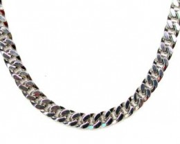 66.93 grams 18K  WHITE GOLD  CHAIN, 54 CM LONG 66.93  GRAMS L326