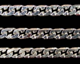 29.2 grams 18K  WHITE GOLD  CHAIN, 58 CM LONG 29.2  GRAMS L329