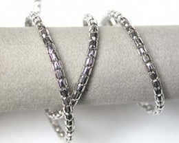 9 grams 18K ITALIAN WHITE GOLD CHAIN , 46 CM LONG 9  GRAMS L398