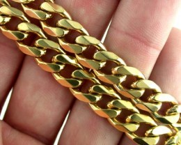 72.5 grams 9k Solid Gold Chain 72.5 GRAMS HEAVY CHAIN L229