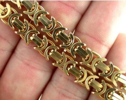 51.8 Grams 9k Solid Gold Chain 51.8 GRAMS UNIQUE DESIGN L231