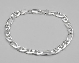 MADE IN ITALY...8 INCH GENTLEMENS 925 STERLING SILVER BRACE