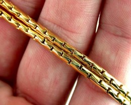 27.5 grams BEAUTIFUL 18k Solid Gold Chain 27.5 GRAMS L258