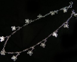 BUTTERFLY CHARM SILVER ANKLET 925 CMT 105