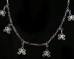 BUTTERFLY CHARM SILVER ANKLET 925 CMT 106