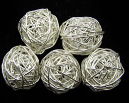 THAI HILL  TRIBE SILVER BEADS 73  CARATS GGR 87