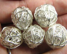 THAI HILL  TRIBE SILVER BEADS  72.65 CARATS GGR 88