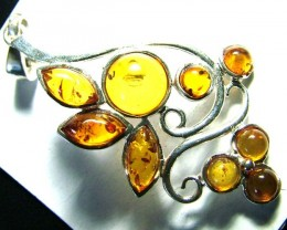 AMBER SILVER  PENDANT 23.12 CTS  SG-2103