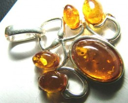 AMBER SILVER  PENDANT 15.24 CTS  SG-2102