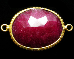43.51 CTS LARGE RUBY-COLOUR ENHANCED /ELECTROPLATED [SJ2553]
