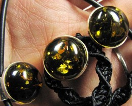 BALTIC AMBER SILVER NECKLACE MYG 871