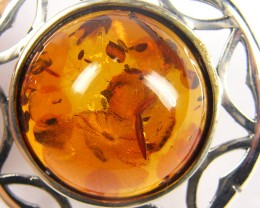 SUN BALTIC HONEY  AMBER    SILVER   PENDANT 23 TCW   MYG 965