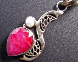 43 Cts Ruby set in Silver Pendant MJA 634