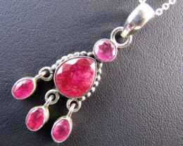 35 Cts Ruby set in Silver Pendant MJA 641